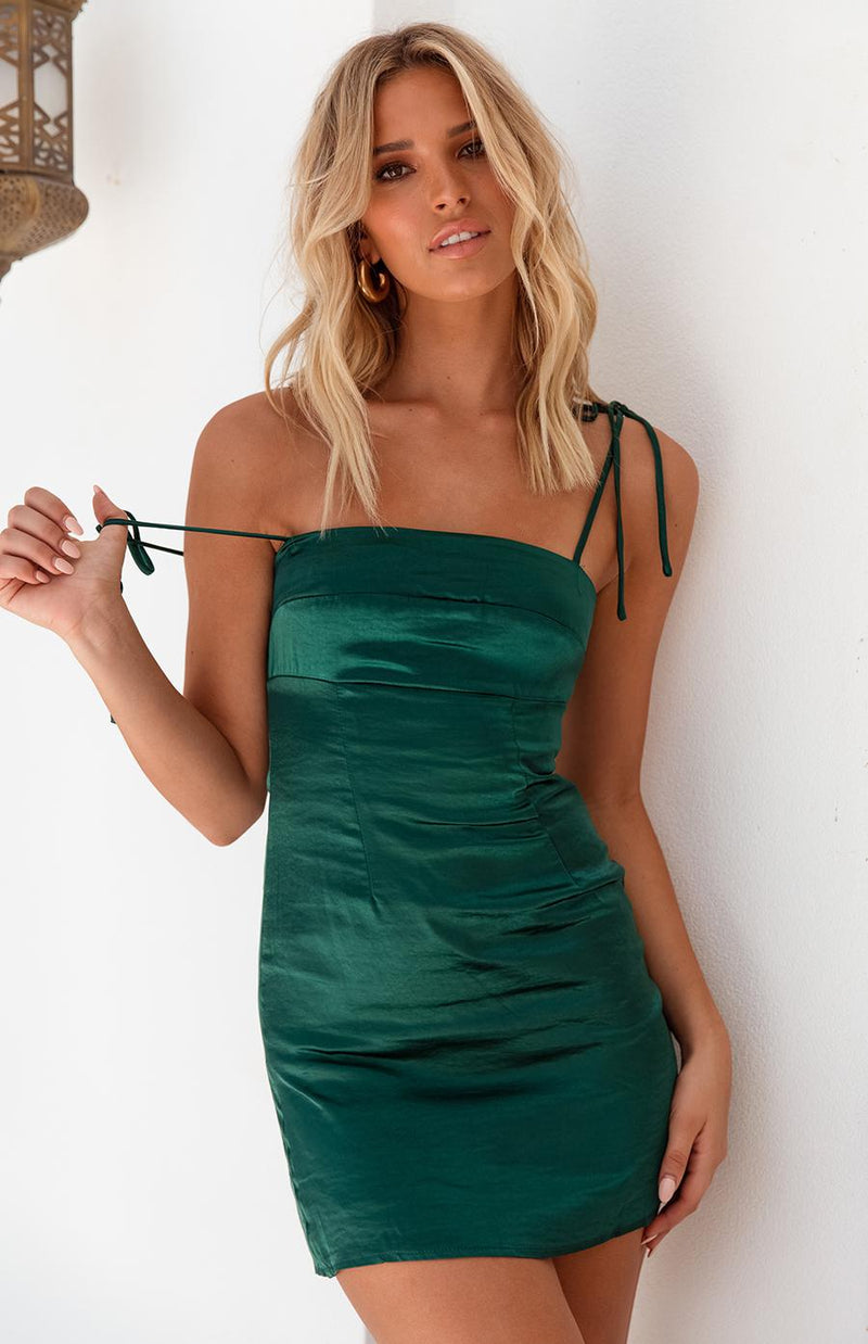 LUXA DRESS - EMERALD