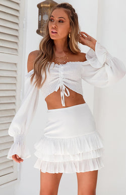 JACKIE CROP - WHITE