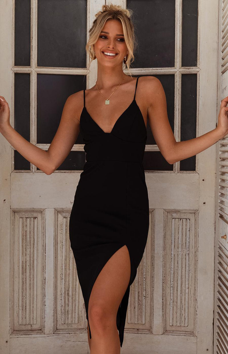 ATLANTIS DRESS - BLACK