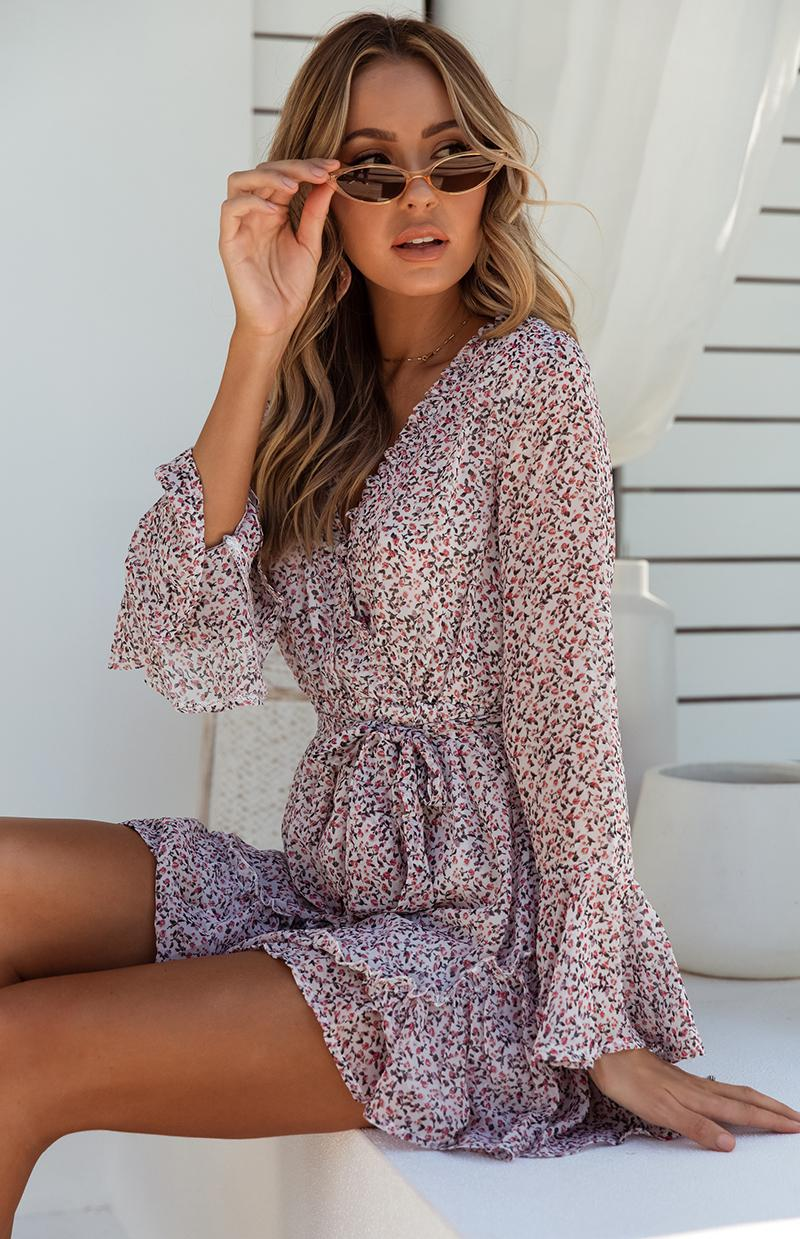ROXY DRESS - WHITE PRINT
