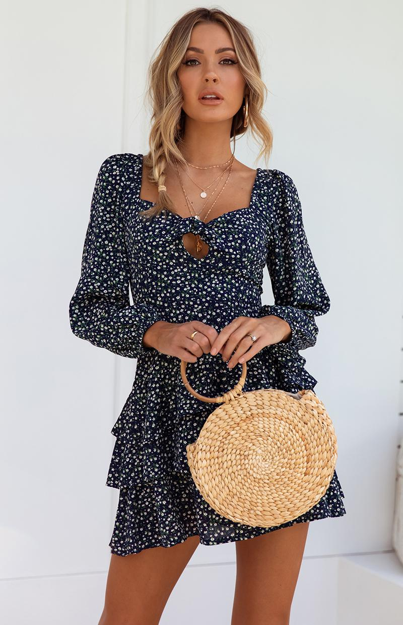 BRIXTON DRESS - NAVY PRINT