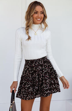 CABIN SKIRT - BLACK PRINT
