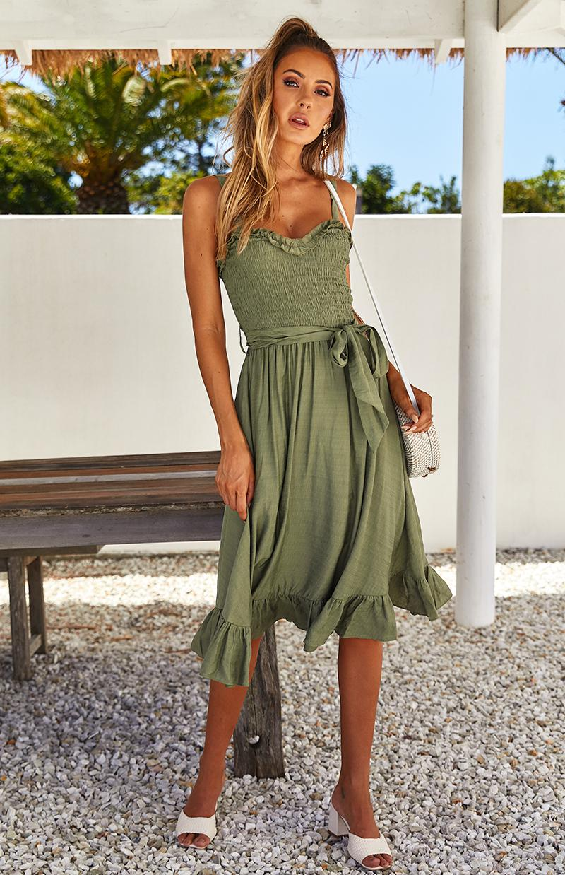 SHIRAZ DRESS - KHAKI