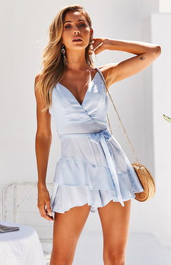 ASHLEY PLAYSUIT - SKY BLUE