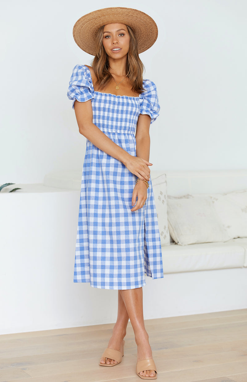 BENI DRESS - BLUE GINGHAM