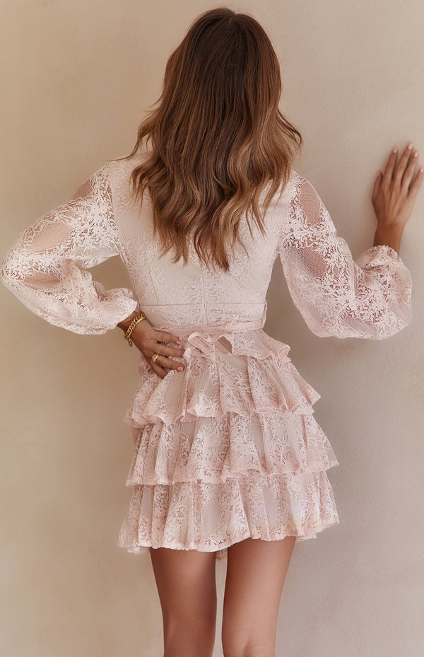 KRISTA LACE DRESS - BLUSH