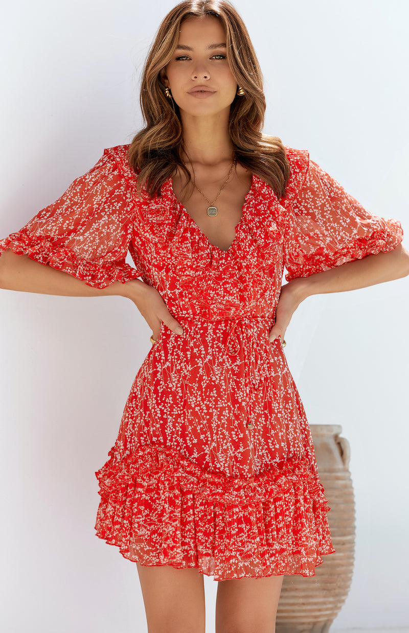 IGNITE DRESS - RED PRINT
