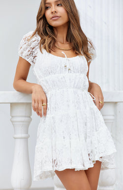 RAIN DRESS - WHITE LACE