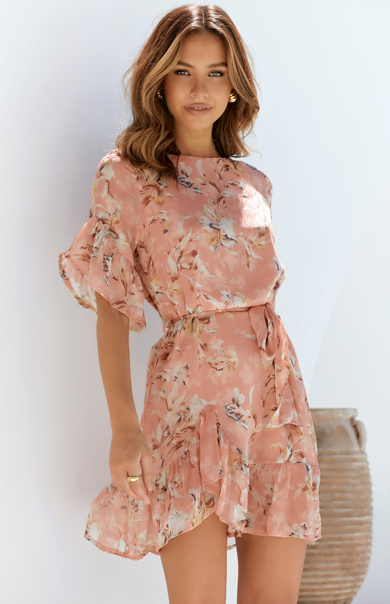PANUI DRESS - PEACH PRINT