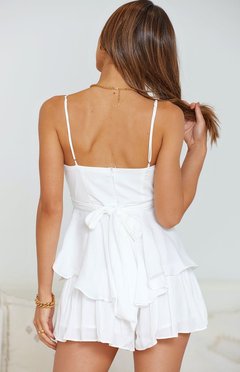 MISTY PLAYSUIT - WHITE
