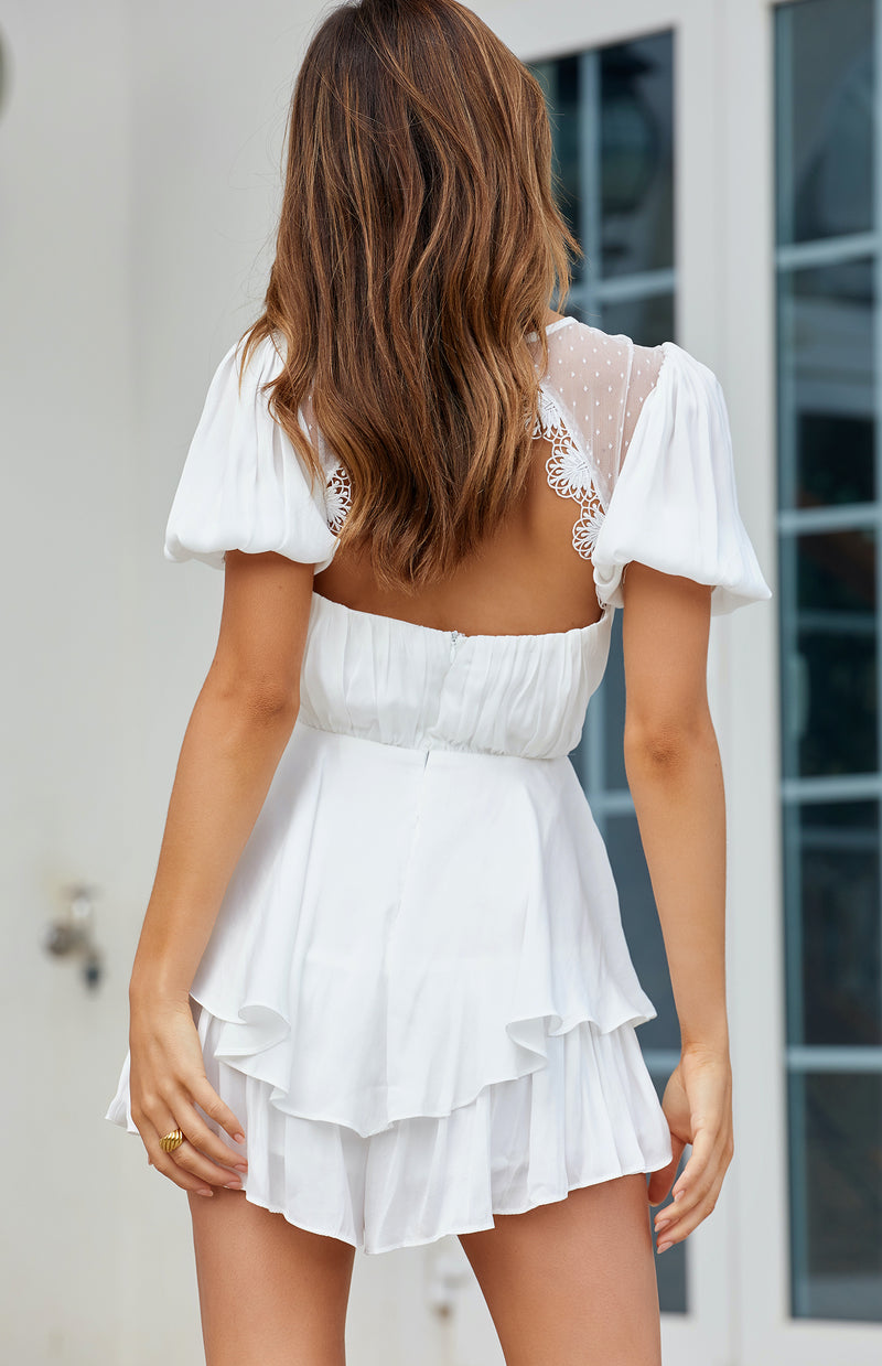 JORDAN PLAYSUIT - WHITE