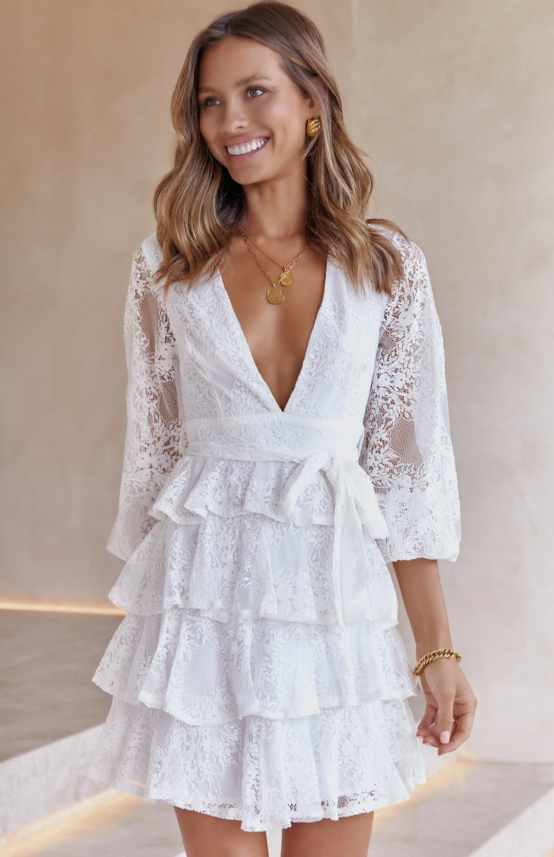 KRISTA LACE DRESS - WHITE