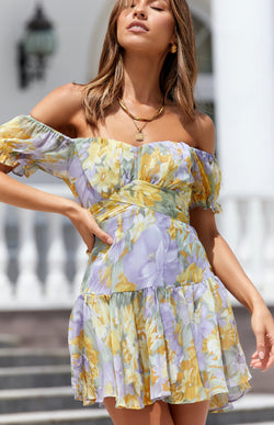 ANTONIA DRESS - YELLOW PRINT