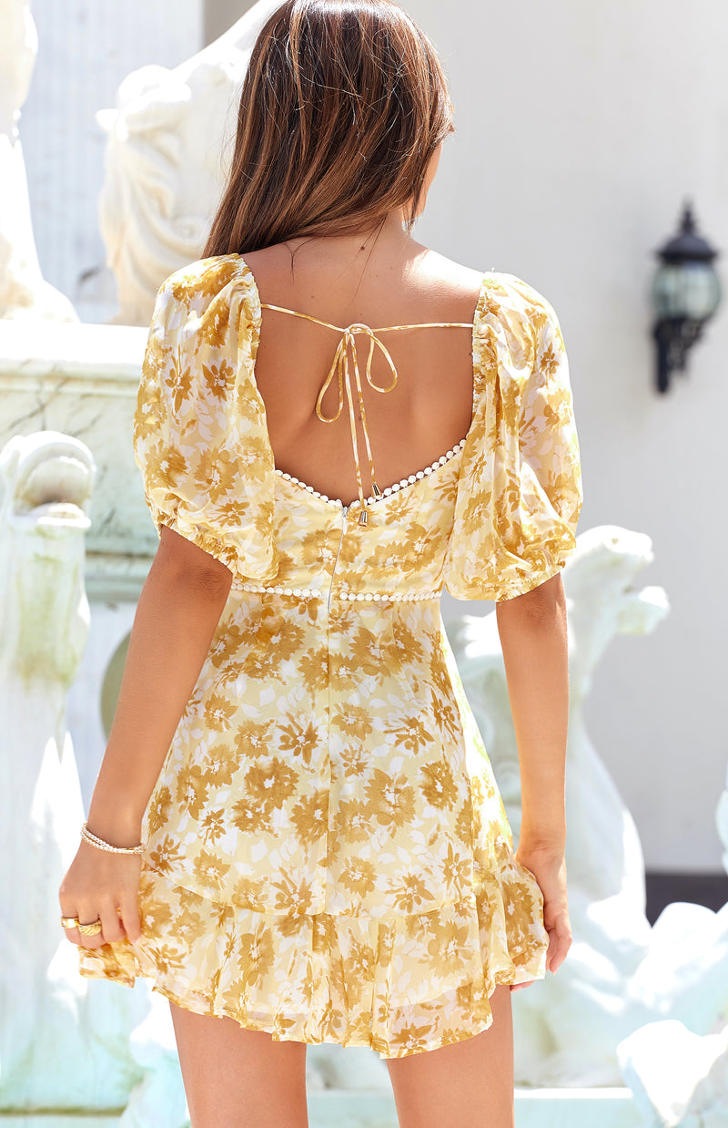 MERCY DRESS - YELLOW PRINT