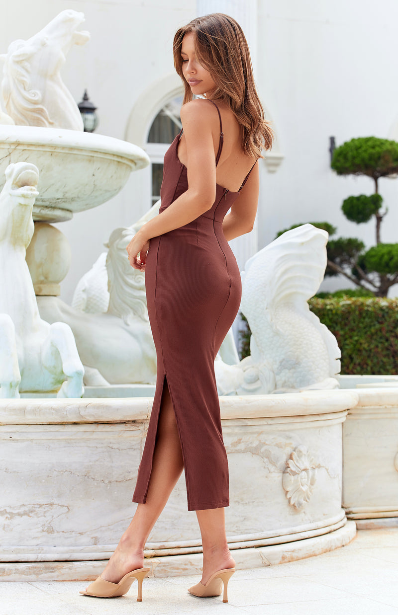 MARSHA DRESS - CHOCOLATE