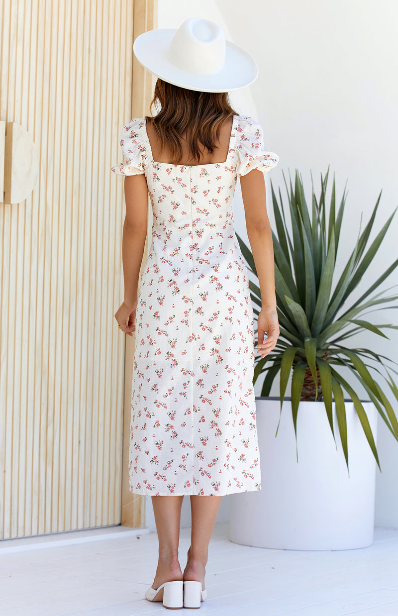 NATIONS MIDI DRESS - PRINT