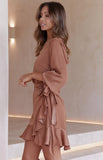 CHASING DREAMS DRESS - TAN