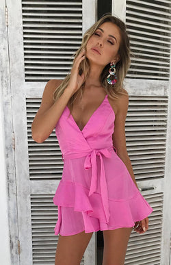 ASHLEY PLAYSUIT - PINK