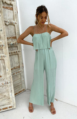 BROWNIE JUMPSUIT - MINT