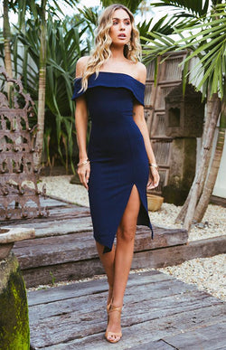 BLOSSOM DRESS - NAVY