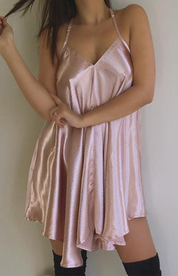 BRIANNA SWING DRESS - ROSE GOLD