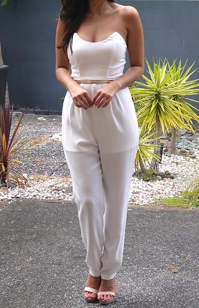 SOHO JUMPSUIT - WHITE