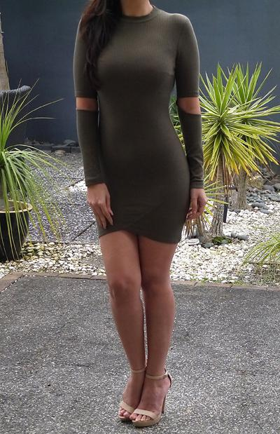 KYLIE DRESS - KHAKI