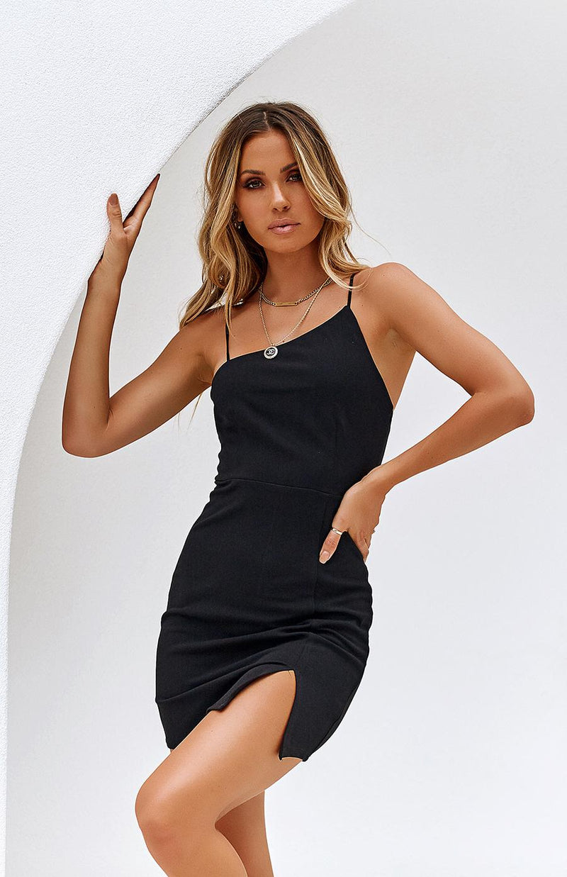 AQUARIUS DRESS - BLACK
