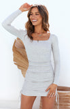 VOILE DRESS - GREY