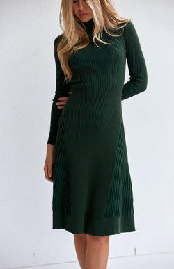VERA KNIT DRESS - EMERALD