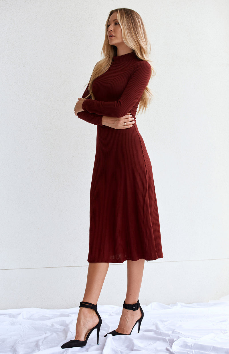 KNORR KNIT DRESS - WINE