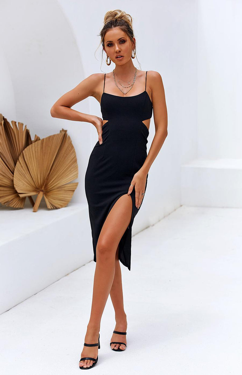 GRAIN DRESS - BLACK