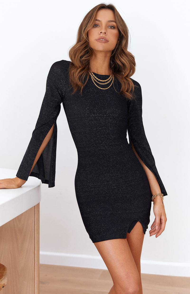 VANI DRESS - BLACK SHIMMER