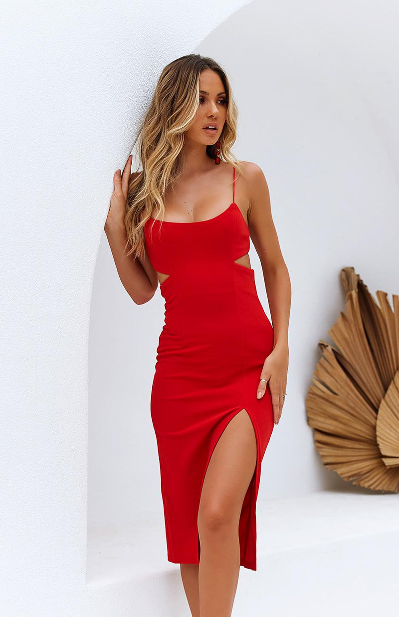 GRAIN DRESS - RED
