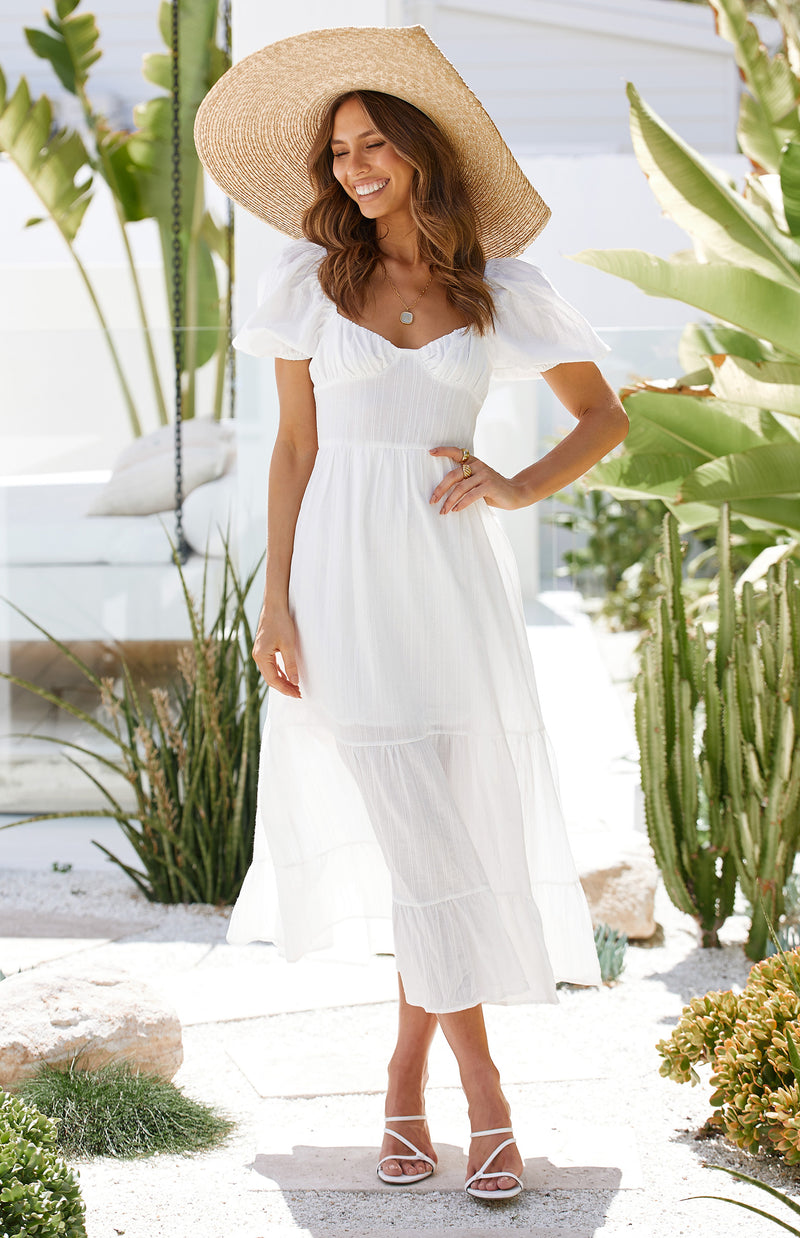 KASHA DRESS - WHITE