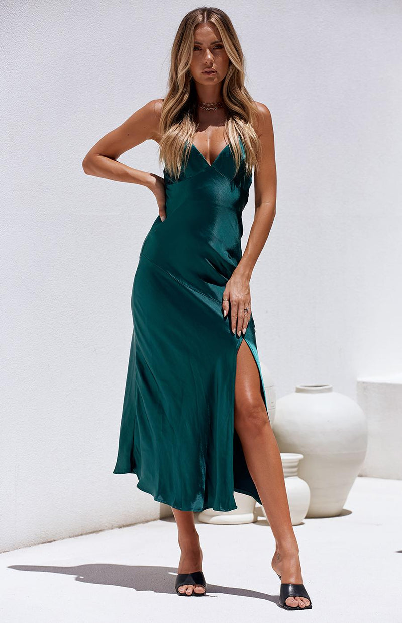 ARGAN DRESS - FOREST GREEN
