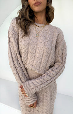MOONDANCE KNIT TOP - MOCHA