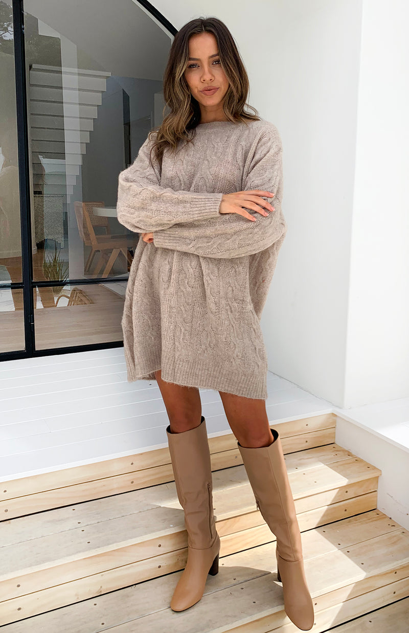 FARRAH JUMPER/DRESS - MOCHA