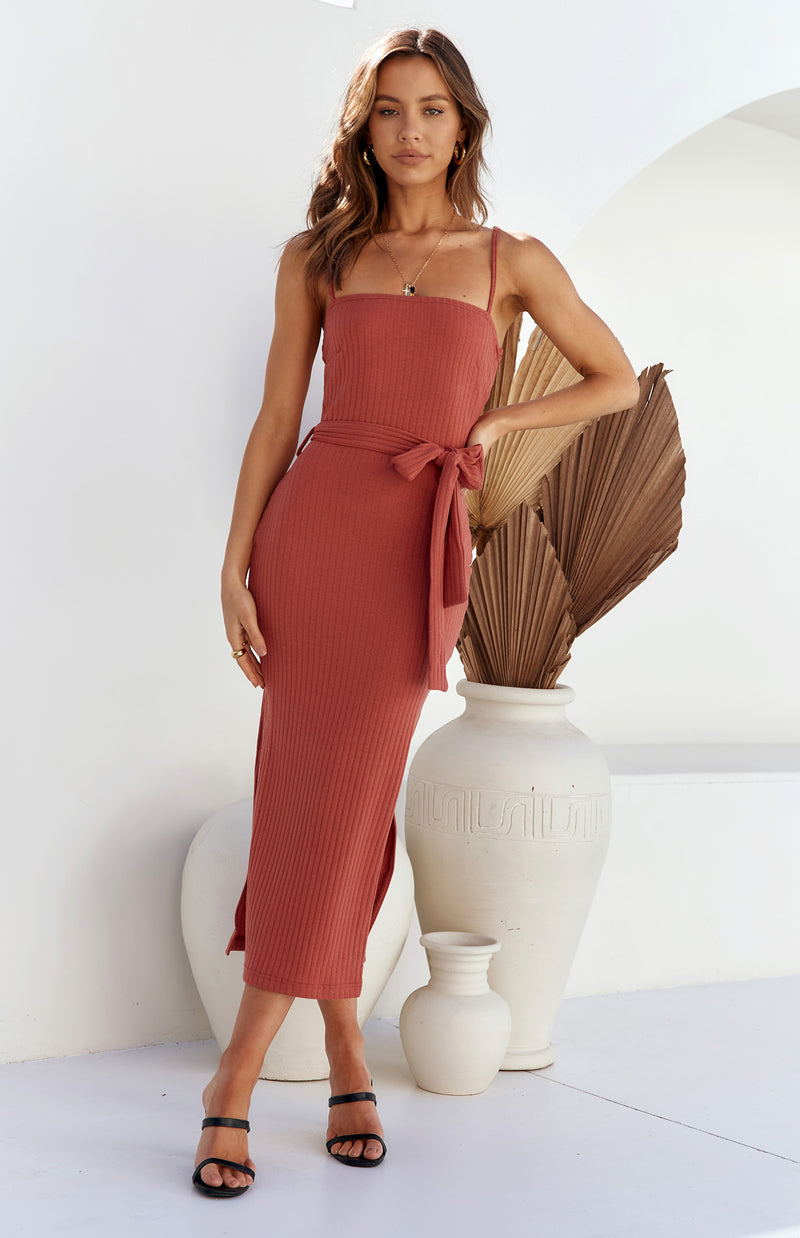 SAUVAGE MIDI DRESS - ROSE