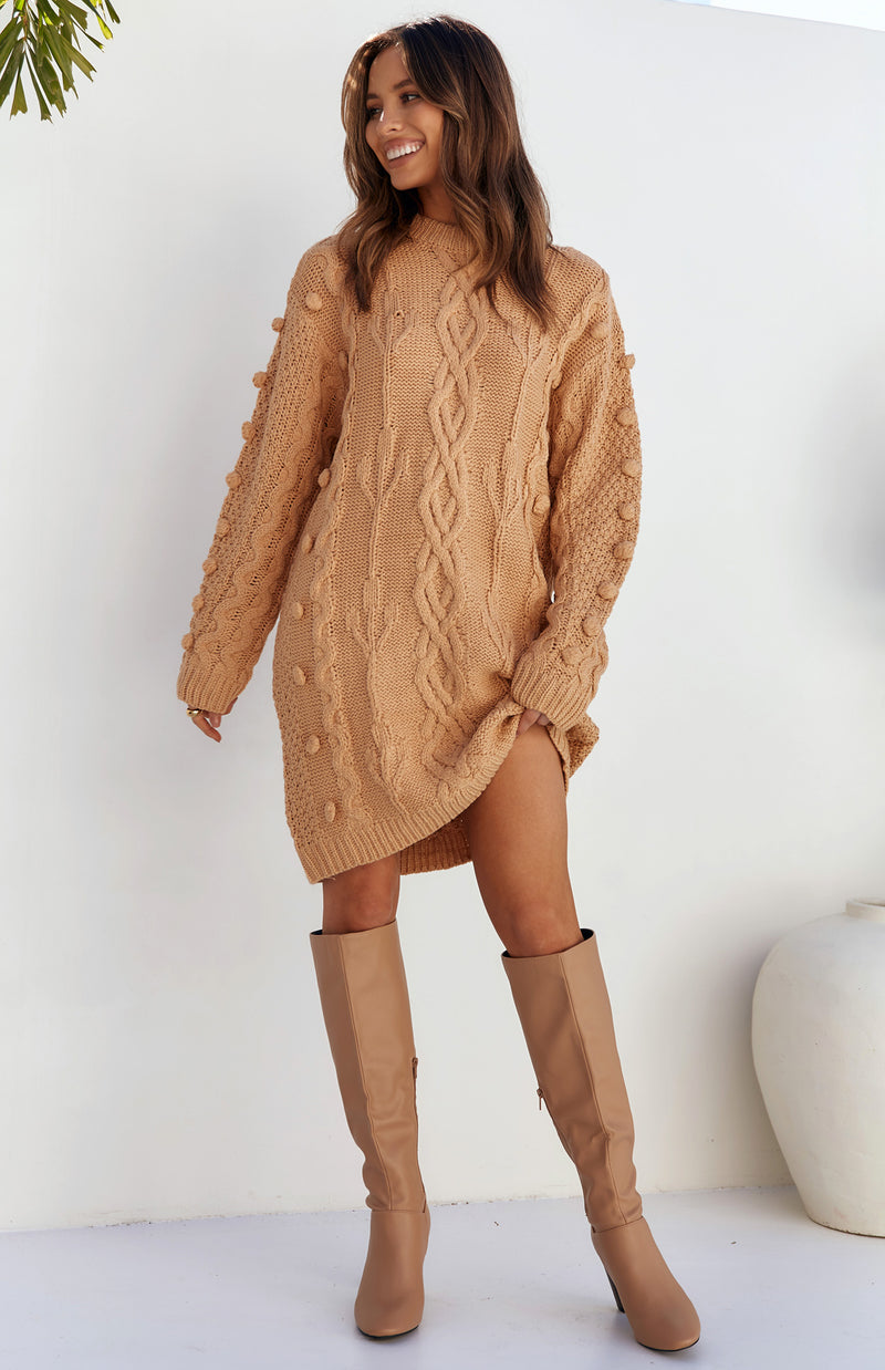 SELINI JUMPER/DRESS - CAMEL