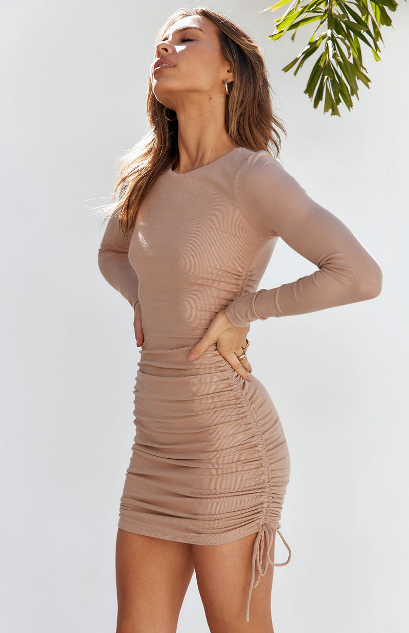 MISHA DRESS - MOCHA