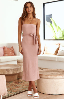 SAUVAGE MIDI DRESS - BLUSH