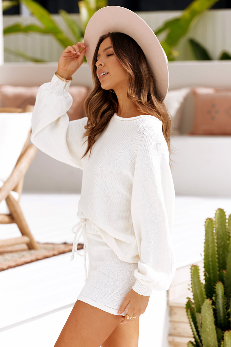 KANDY KNIT TOP - IVORY