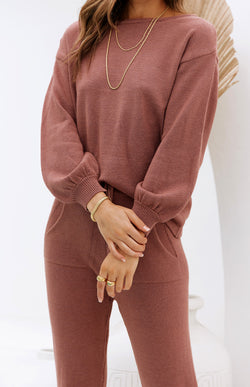ZIZI KNIT TOP - ROSE