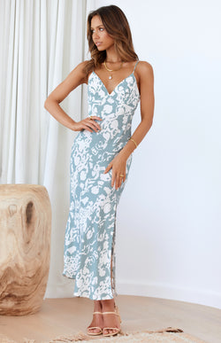 ARGAN DRESS - SAGE PRINT