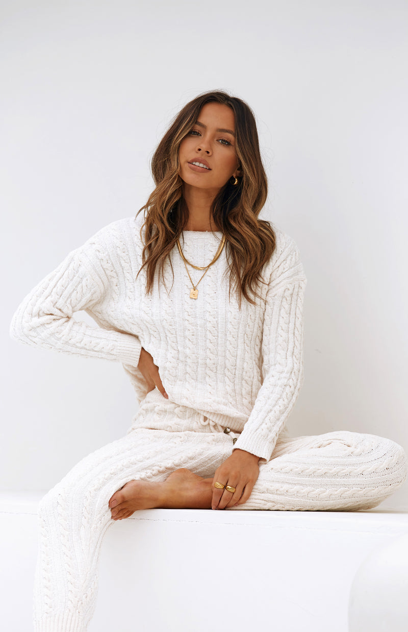 NADINE LOUNGEWEAR TOP - CREAM