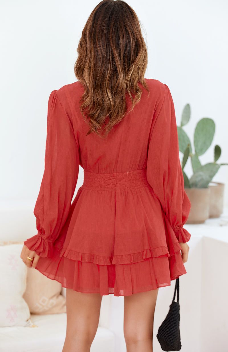 DORSET DRESS - RED