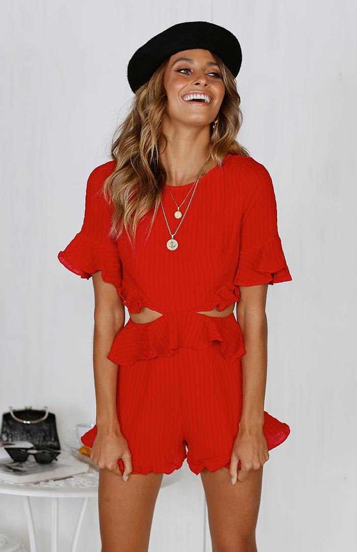 CALI PLAYSUIT - RED