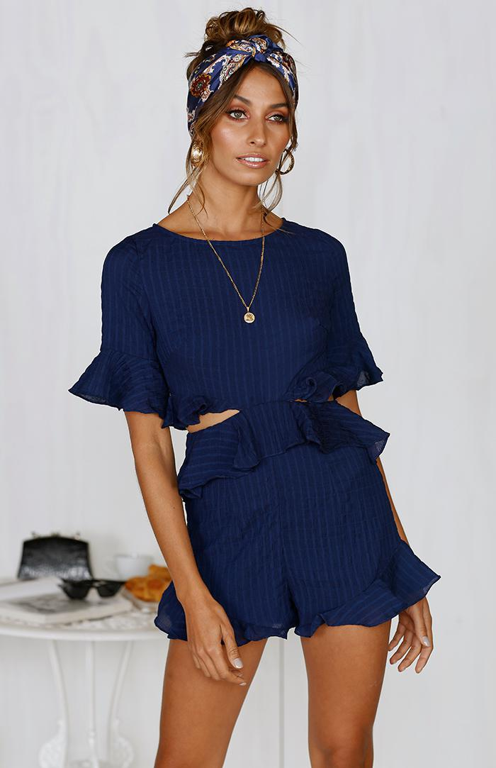 CALI PLAYSUIT - NAVY