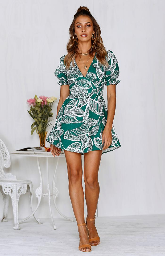 NEXT LEVEL DRESS - FOREST GREEN